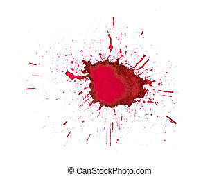 Red ink splashes