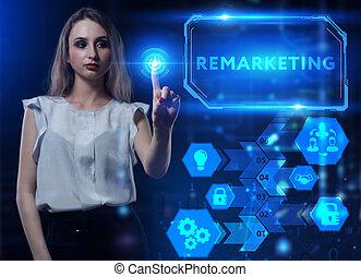 red, internet, virtual, concept., futuro, empresa / negocio,...