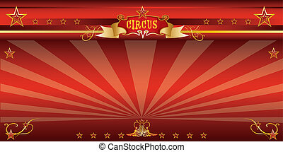 Red invitation circus - An invitation card for your circus...