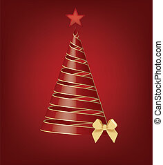 red isolated christmas tree
