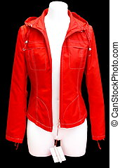Red jacket - isolated on black