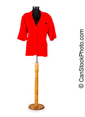 Red jacket isolated on the white background