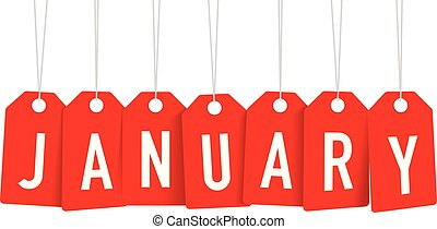 red January tags