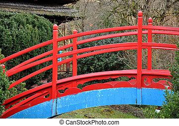 Red Japanese bridge