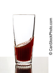 Red juice in glass