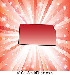 Red Kansas. Vector illustration