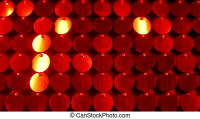 Red kinetic background with shining, shimmering lights....