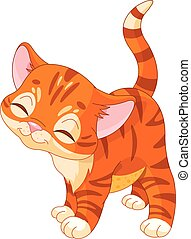 Illustration of cute red kitten