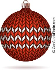 Red Knitted Christmas Ball.