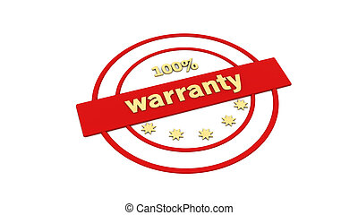 Red label stamp warranty