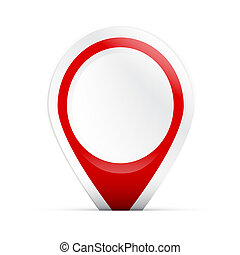 Red Label Sticker Tag Isolated on White Background