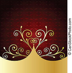 Red Label Template. Vector
