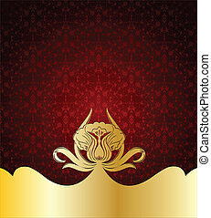 Red Label Template. Vector illustration
