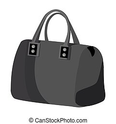 Red lady s bag with handles. Ladies accessory items. Woman clothes single icon in monochrome style vector symbol stock illustration.