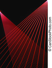 Red Laser Beams - Pattern from two laser sources