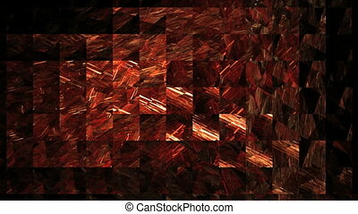 red lattice on black background, seamless loop animated...