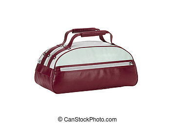 Red Leather Bag isolated