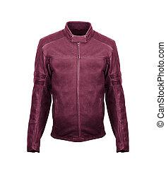 red leather jacket isolated on white background
