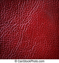 Red leather texture, abstract background