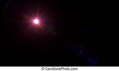 red lens flare 4k