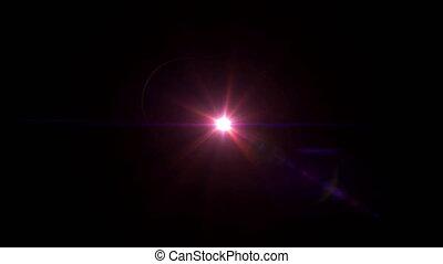 red lens flare center 4k