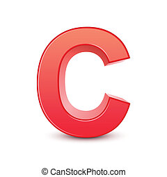 red letter C