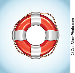 Red Life Buoy Vector Icon