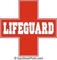 red lifeguard logo