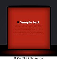 Red light box illustration.