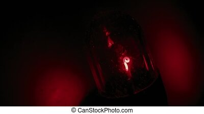 Red light extreme macro shot - Extreme macro shot of the...