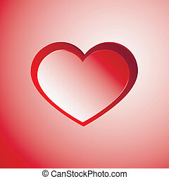 Red light heart