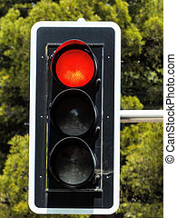 red light - traffic light with red light, symbol photo