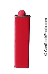 Red Lighter Fluid Pack isolated on white background