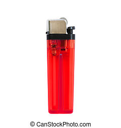 red lighters isolated on white background