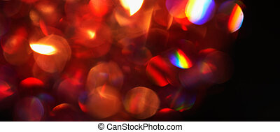 Red Lights. - Defocus of red lights. Image is blurry and...