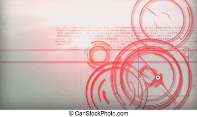 red line technology - Motion graphic line of technology...