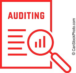 red linear document like auditing