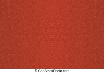 Red linear seamless pattern with heart shapes