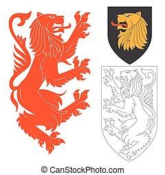 Red Lion Illustration