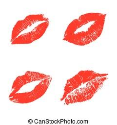 Red lips set