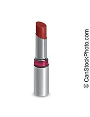 Red lipstick set isolated on the white background vector.