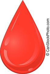Red liquid blood drop vector icon