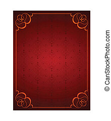 Red little background and frame