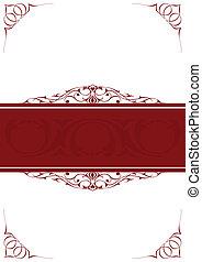 Red little frames over white background