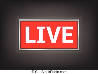 Red Live button