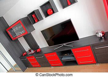 Red livingroom