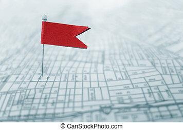 Red locator flad