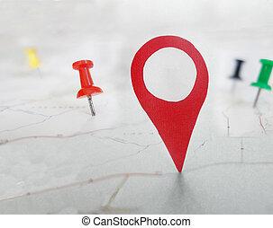 red locator symbol