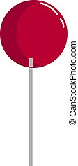 Red lolipop, illustration, vector on white background.