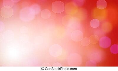red loop hexagonal lights